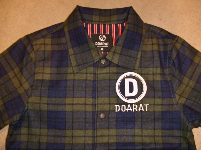 DOARAT CHECK COACH JACKET GREEN FT