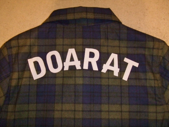 DOARAT CHECK COACH JACKET GREEN BK