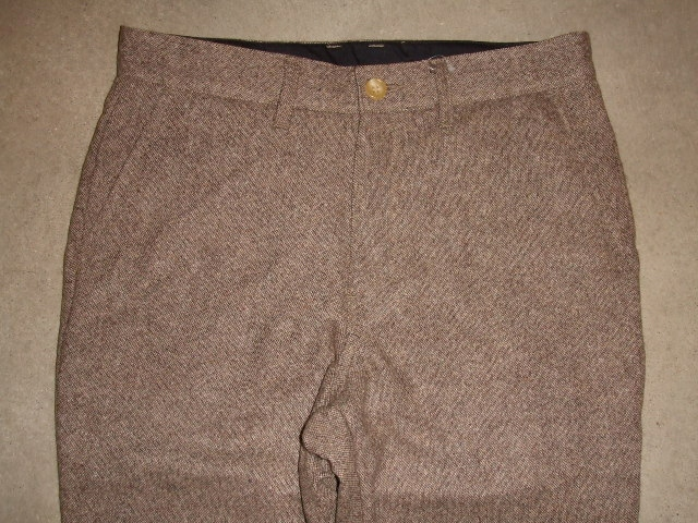 MDY STANDARD WOOL PANTS BROWN FT