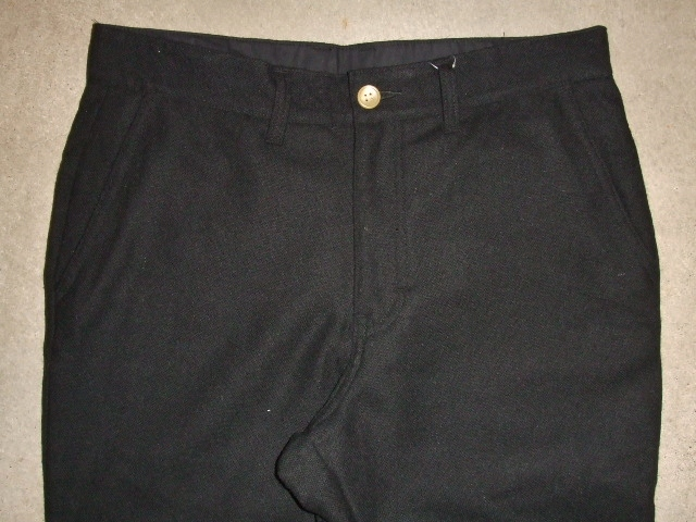 MDY STANDARD WOOL PANTS BLACK FT