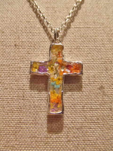 rehacer Flower cross necklace FT