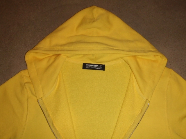 MDY BASIC ZIP HOODIE YELLOW FT1