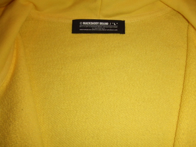 MDY BASIC ZIP HOODIE YELLOW IN