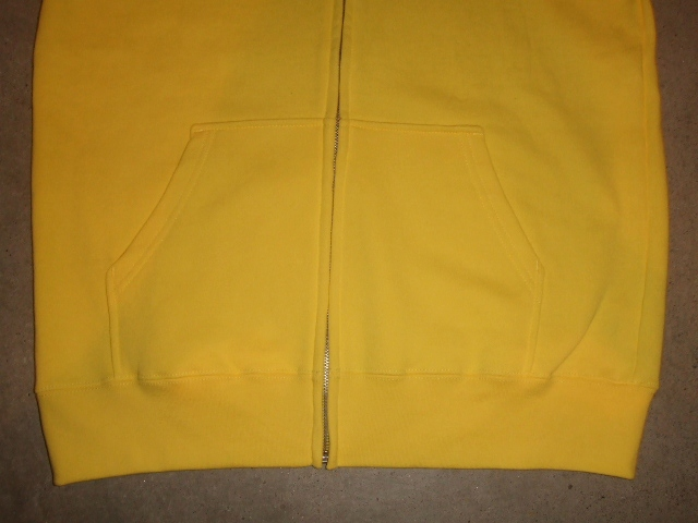 MDY BASIC ZIP HOODIE YELLOW FT