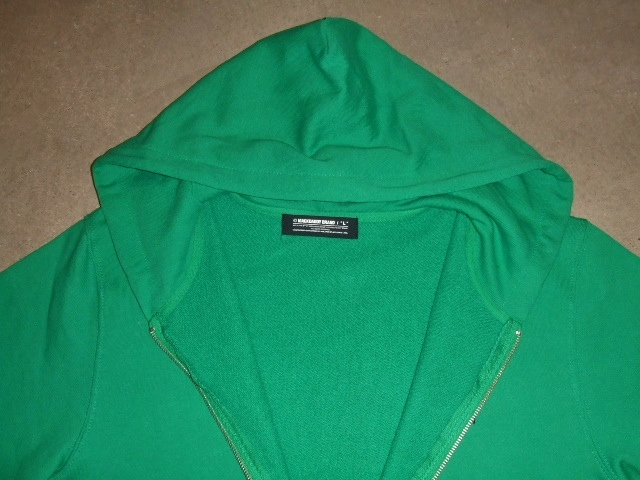 MDY BASIC ZIP HOODIE GREEN FT1