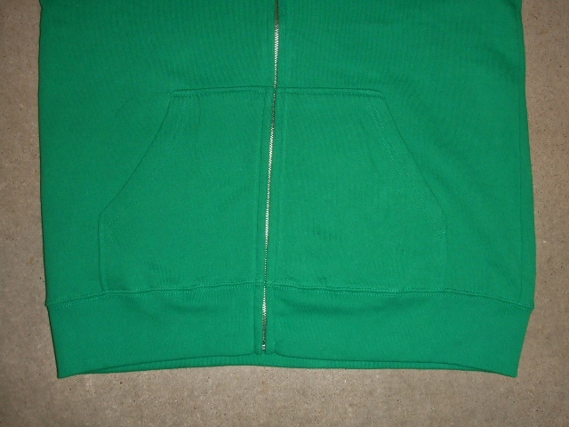 MDY BASIC ZIP HOODIE GREEN FT2