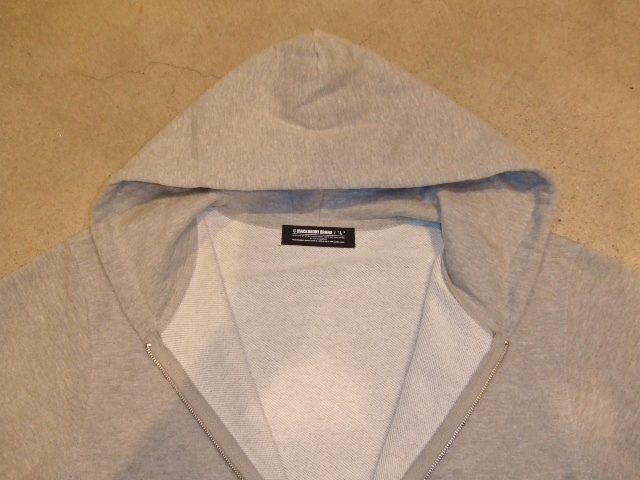 MDY BASIC ZIP HOODIE GRAY FT1