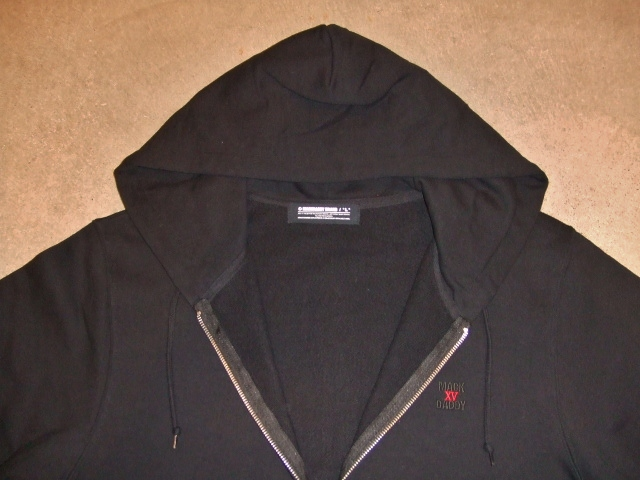 MDY BASIC ZIP HOODIE BLACK FT1