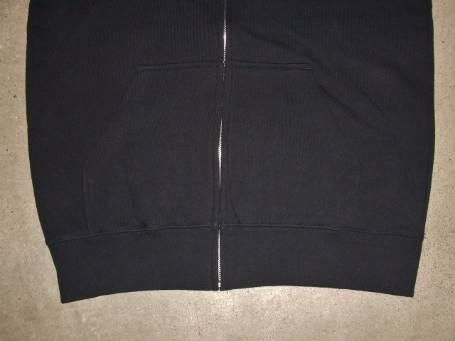MDY BASIC ZIP HOODIE BLACK FT2