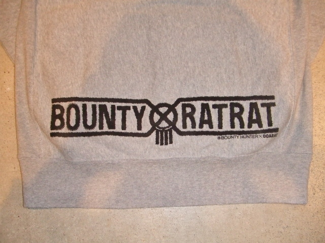 BOUNTYHUNTERxDOARAT HOODE GRAY BKPT