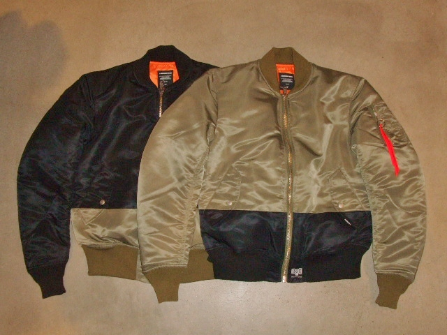 BOUNTY HUNTER×MACKDADDY MA-1 TYPE JACKET