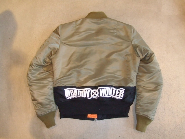 BOUNTY HUNTER×MACKDADDY MA-1 TYPE JACKET OD BK