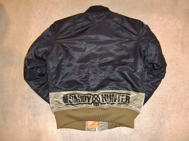 BOUNTY HUNTER×MACKDADDY MA-1 TYPE JACKET BLACK BK