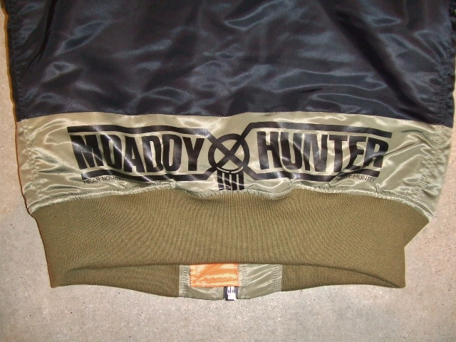 BOUNTY HUNTER×MACKDADDY MA-1 TYPE JACKET BLACK BK PT