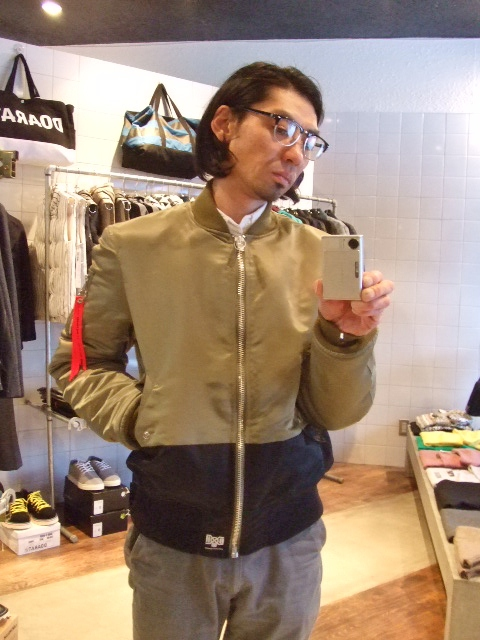 BOUNTY HUNTER×MACKDADDY MA-1 TYPE JACKET ST1