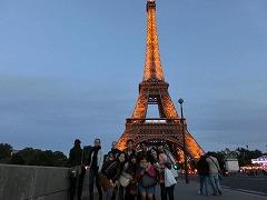 最後のパリ観光・エッフェル塔にて