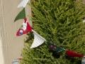 ナンフェア クリスマス柄のミニフラッグ ゴールドクレスト