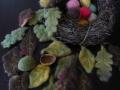 ナンフェア 羊毛リーフと羊毛・くるみのピンクッション