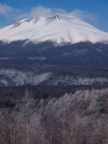 浅間山と霧氷130120