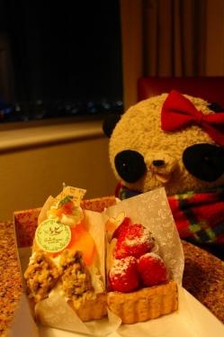 フルーツタルトとおばぶ