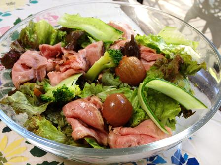 ローストポークと夏野菜のサラダ