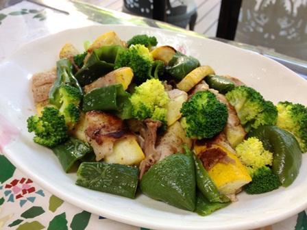 ズッキーニの豚肉巻と焼き野菜