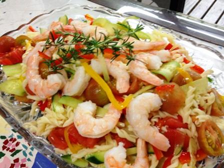 シュリンプ夏野菜サラダ