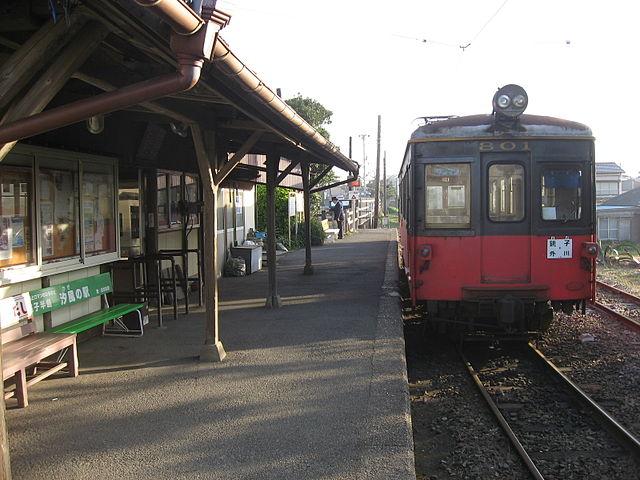 外川駅のホーム
