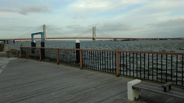 利根川と銚子大橋
