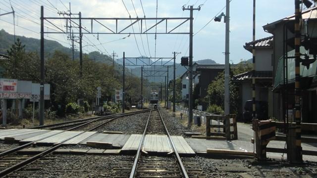長瀞駅から眺めた秩父方面の景色