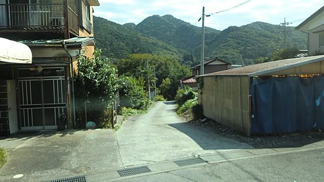 船降り場から長瀞駅へ向かうバスの車窓
