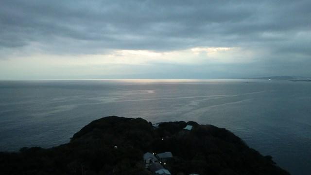 江ノ島展望台から眺めた大海原