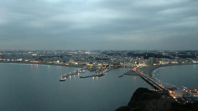 江ノ島展望台から眺めた市街地