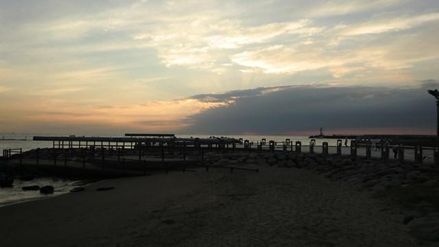 熱海ムーンテラスから見た朝焼け