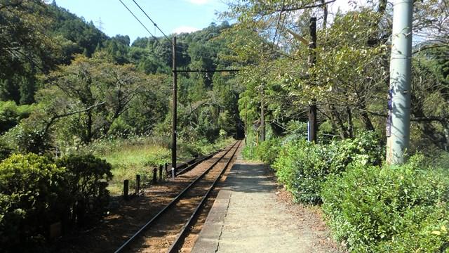青部駅ホームから眺めた金谷方面の景色