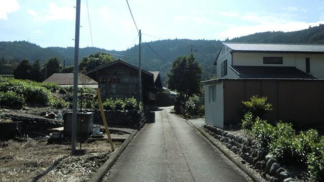川根本町青部の路地