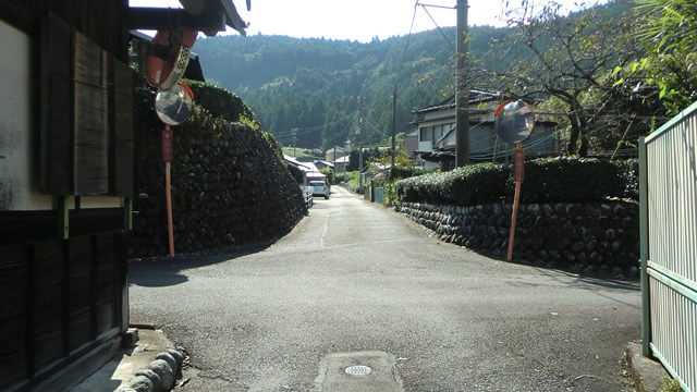 川根本町青部の集落
