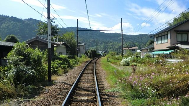 大井川本線の田舎の線路