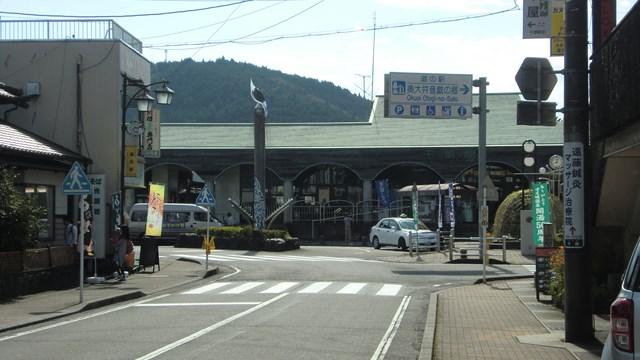 千頭駅の駅前通り