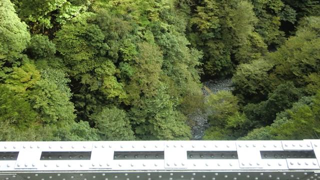 関の沢鉄橋の谷底2