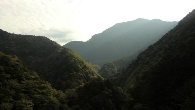 関の沢鉄橋から見た山々3
