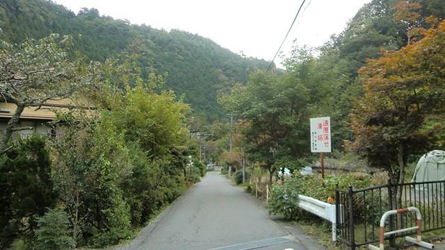 寸又峡温泉の路地1