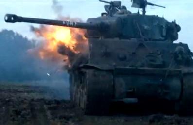 M4中戦車 被弾シーン