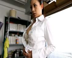 ◆Fカップ巨乳美人女教師が生徒に犯される!