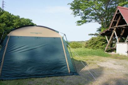 2日目。とっても静かな平田森林公園キャンプ場