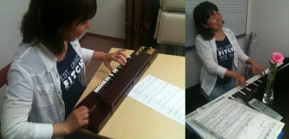 大正琴やピアノ
