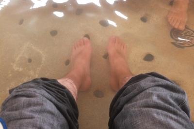 140114おごと温泉観光公園の足湯