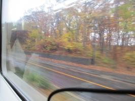 大沼国定公園近くの車窓から