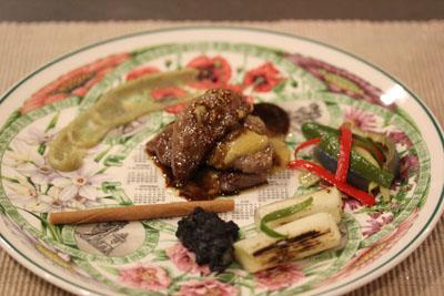 牛 白味噌 パプリカマリネー