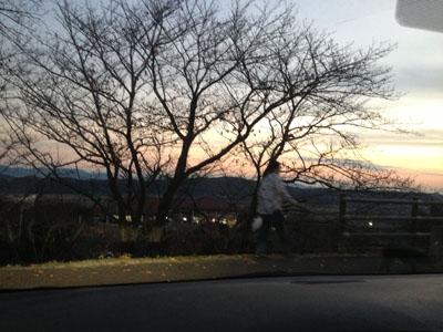 夕日が。。。